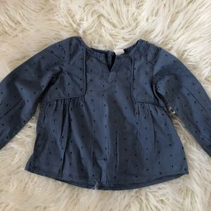 Blue blouse by baby Gap